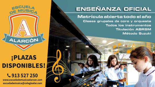 Actividades de la Escuela de Música Alarcón para familias y adultos