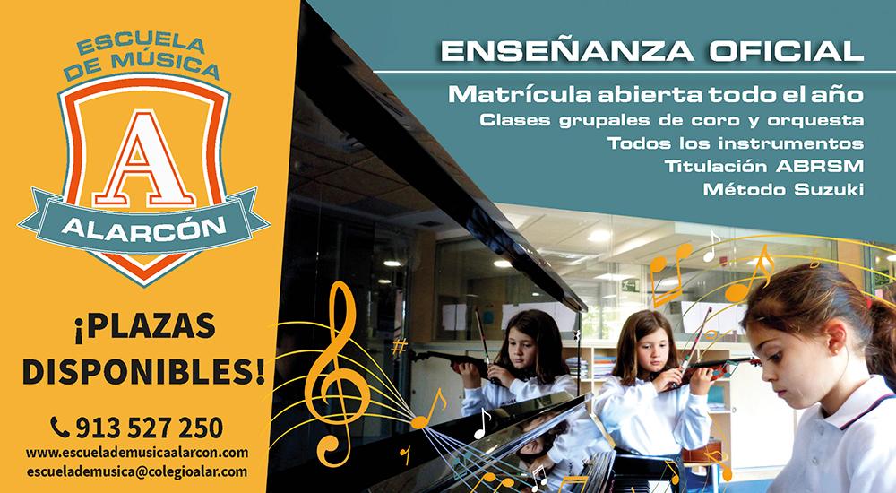 Actividades y talleres para familias en la Escuela de Música Alarcón