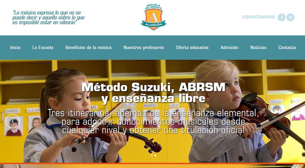 Nueva web de la Escuela de Música Alarcón