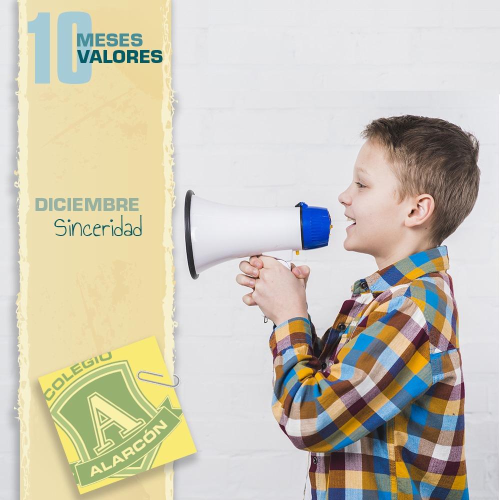 La sinceridad en los 10 valores de una persona corresponde al mes de Diciembre,
