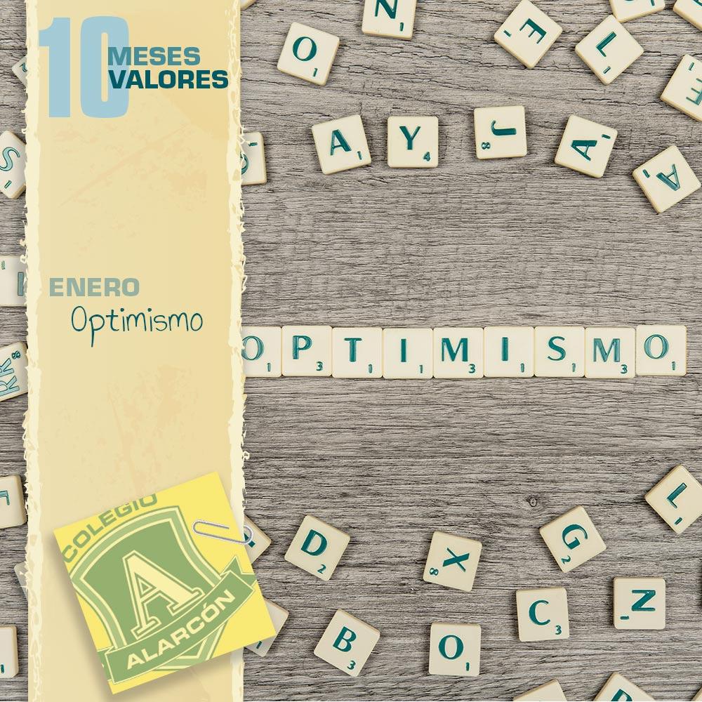 El optimismo en los 10 valores de una persona corresponde al mes de enero.
