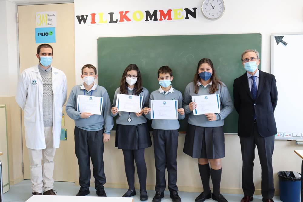 Diplomas al mérito a alumnos durante la 1ª evaluación